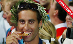 גל פרידמן מדליית זהב אתונה 2004 (צילום: AP)