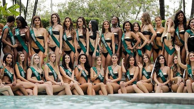 מתמודדות תחרות מיס כדור הארץ  (צילום: EPA)