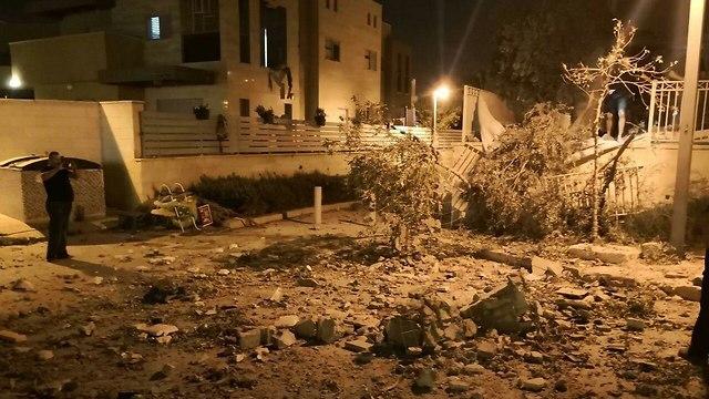 Падение ракеты в Беэр-Шеве