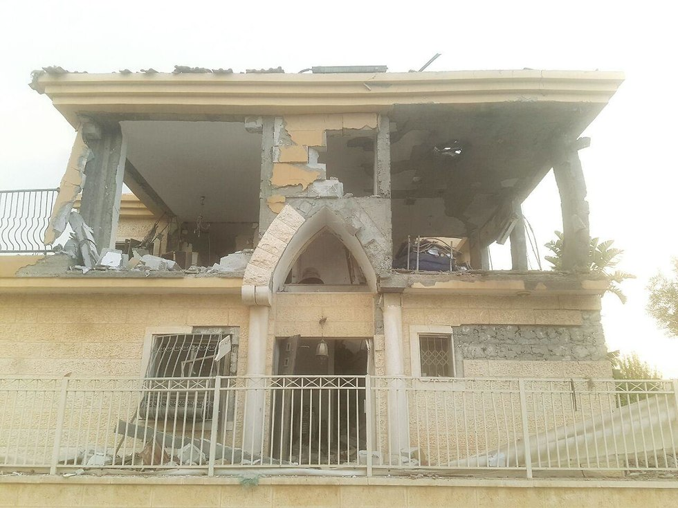 A house in Be'er Sheva hit by rocket launched from Gaza