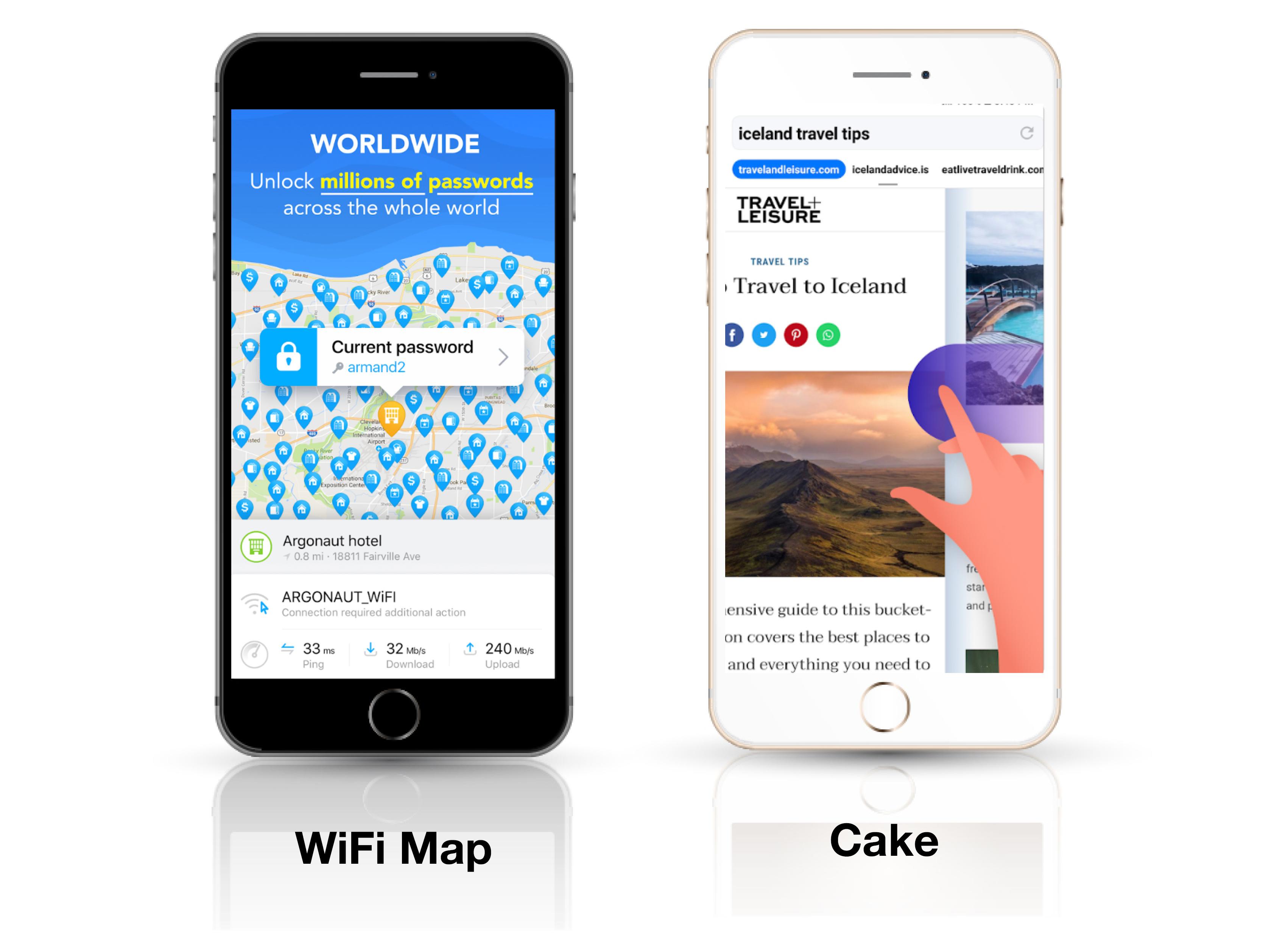 Приложения WIFI MAP и CAKE