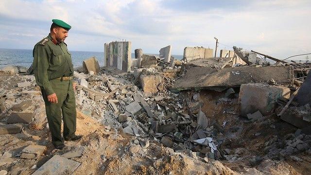 Infrastructures à Gaza détruites par les bombardements des FDI en 2018 (Photo: AFP)