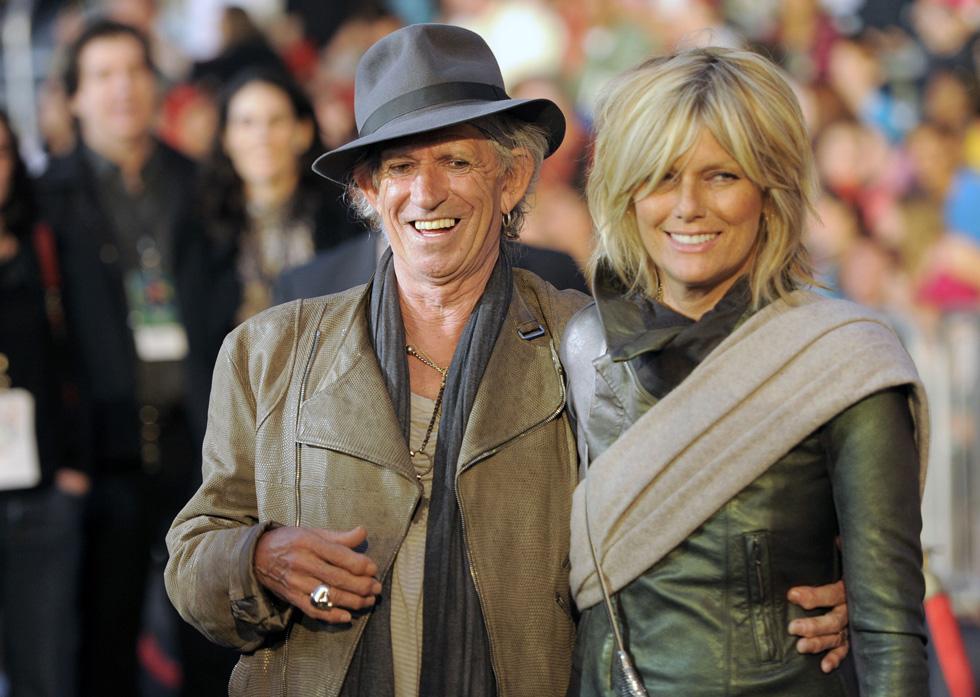 נפגשו לראשונה כשהיתה בת 23, ולא נפרדו מאז. הנסן וריצ'רדס, 2011 (צילום: AP)