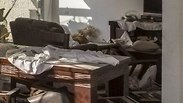 תיעוד: ההרס בתוך הבית שנפגע מרקטה בבאר שבע