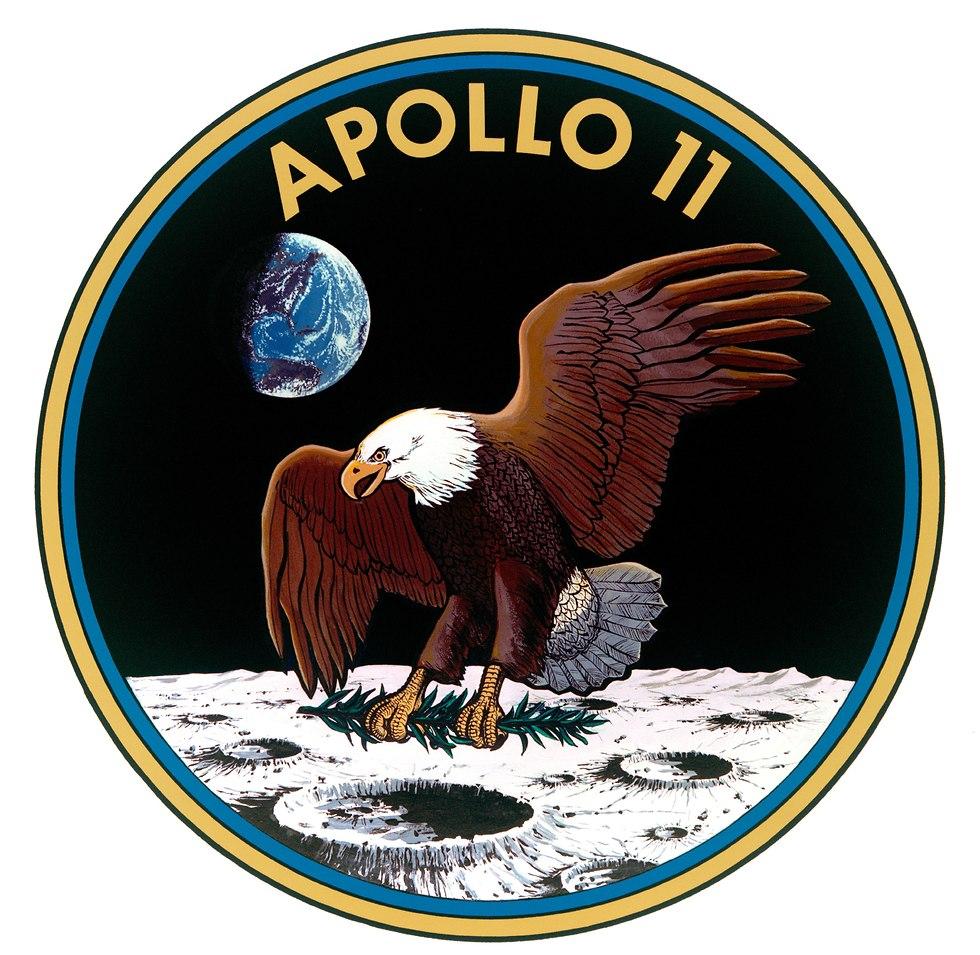 סמל המשימה של אפולו 11 (צילום: נאס