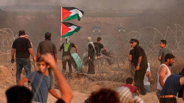 Gaza border riot (Photo: AFP)