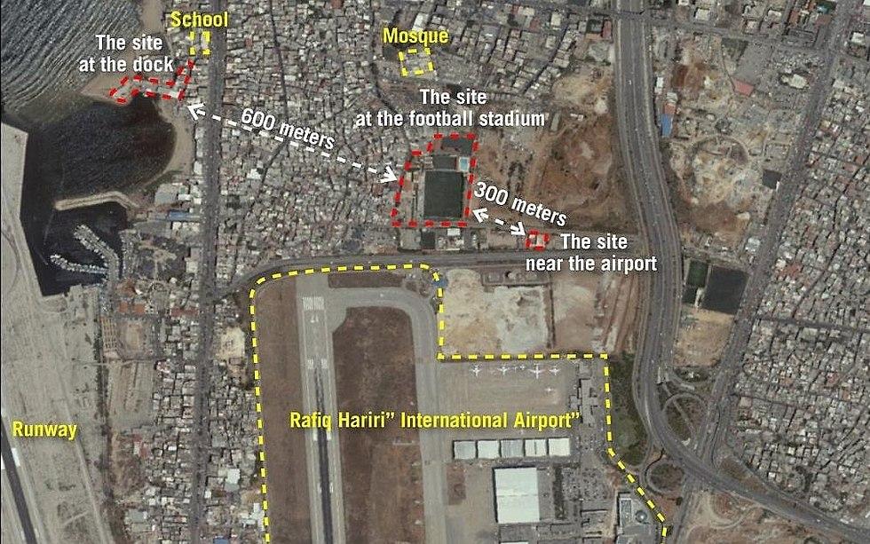 Hezbollah's terror sites in Beirut (Photo: IDF Spokesman's Office)