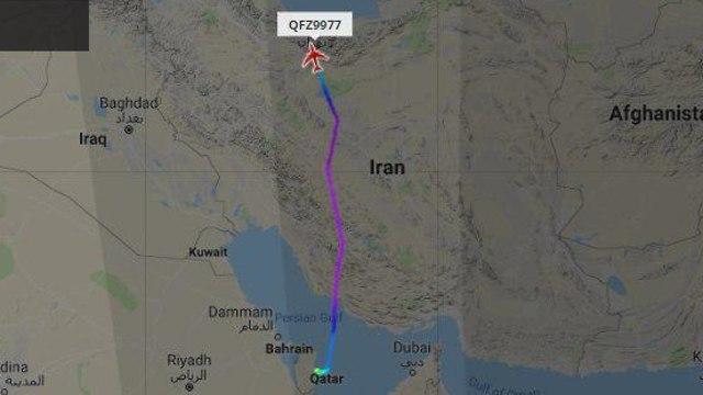 Курс иранского самолета