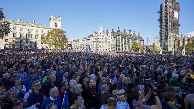 בריטניה לונדון הפגנת ענק נגד ה ברקזיט פרישה מ האיחוד האירופי (צילום: AFP)