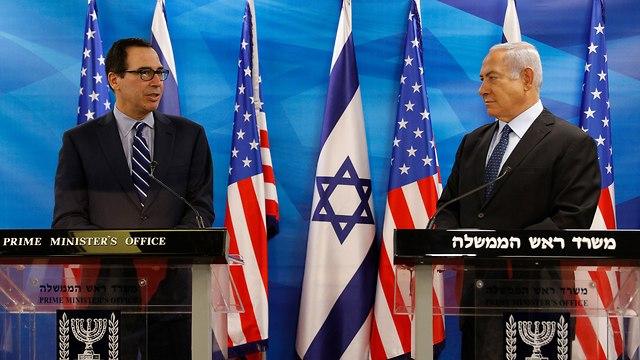 Netanyahu and Mnuchin (Photo: EPA)