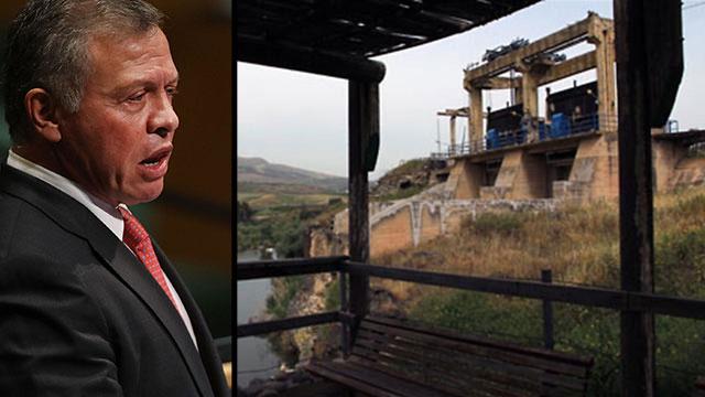 נהריים עבדאללה מלך ירדן  (צילום: יעקב שקולניק, AFP)