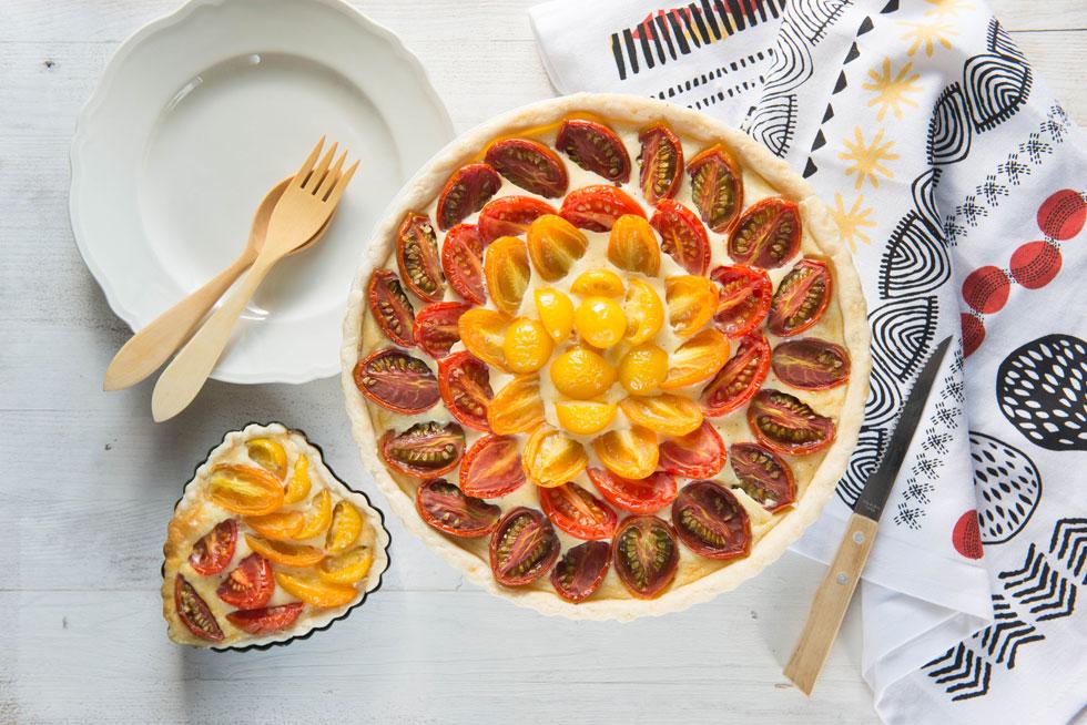 קיש עגבניות שרי (צילום: אפרת מוסקוביץ)