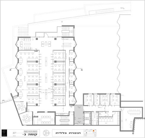 תוכנית קומת הכניסה (תוכנית: Open Mind Art  Architecture & Design)