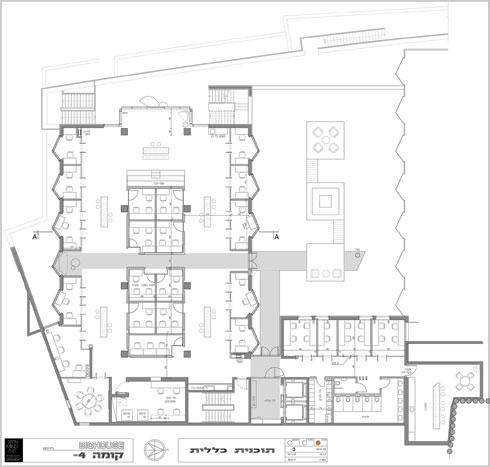 תוכנית הקומה התחתונה (תוכנית: Open Mind Art  Architecture & Design)