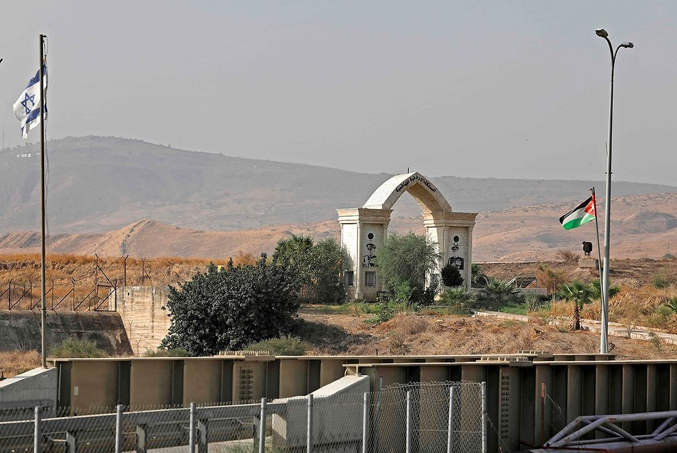 The gateway at the Israel-Jordan border crossing in Naharayim (Photo: AFP)