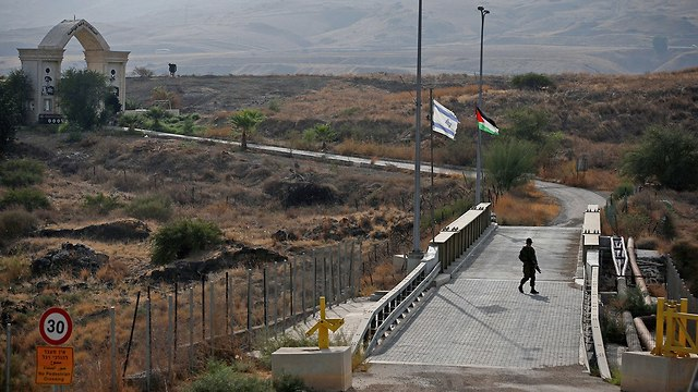 The Naharayim border crossing (Photo: Reuters)