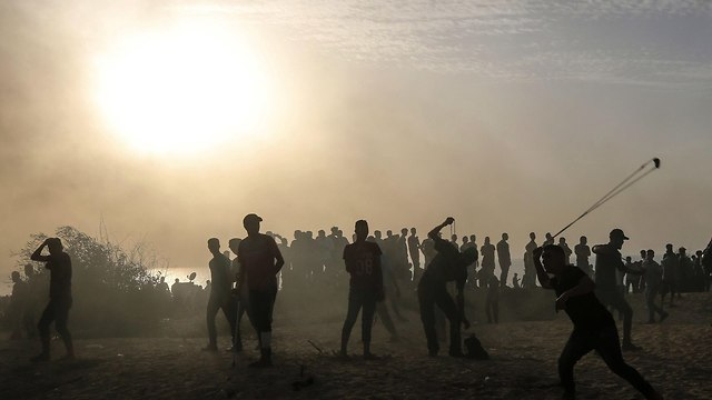 Riots in Deir al-Balah (Photo: AFP)
