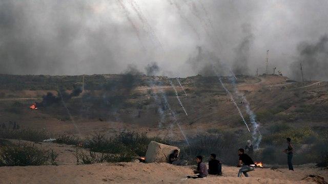 Gaza border riots (Photo: AP)