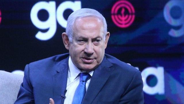 Netanyahu at the Jewish Federation of North America conference (Photo: Motti Kimchi)