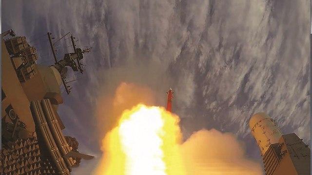 תמונת ארכיון של ניסוי ברק 8 ימי (קרדיט: התעשייה האווירית)