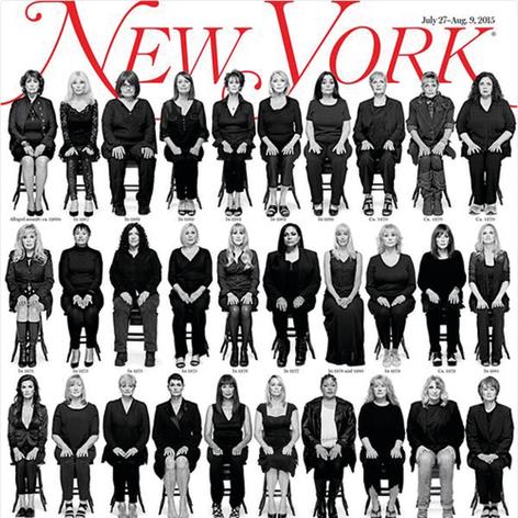 """שער """"ניו יורק מגזין"""" עם 35 נשים שטענו כי קוסבי פגע בהן"""