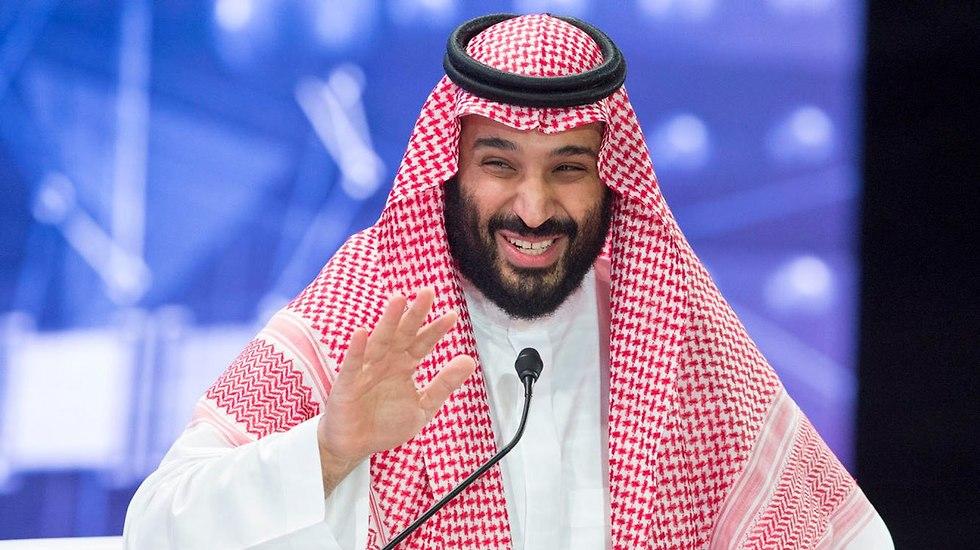 יורש העצר של סעודיה מוחמד בן סלמאן ועידת השקעות ב ריאד (צילום: EPA)