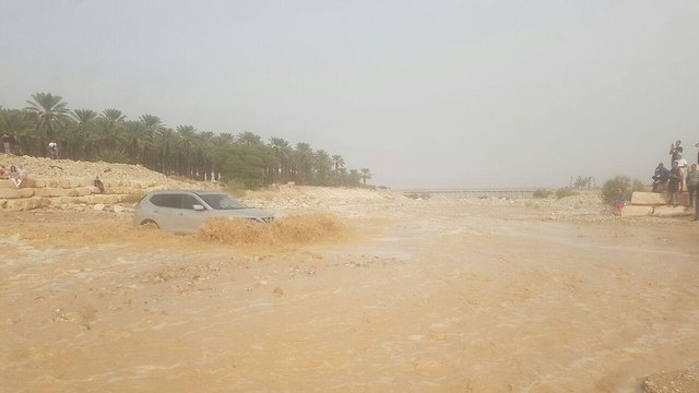 Flash flood in the Negev area