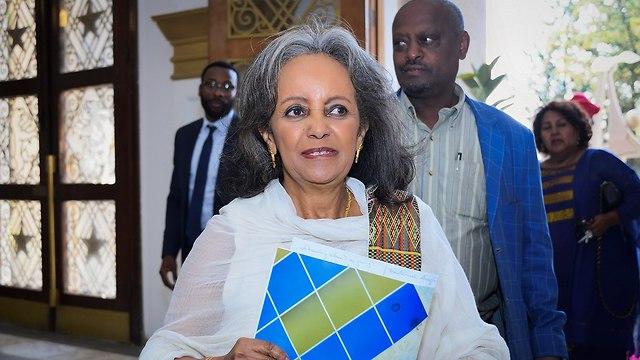 אתיופיה סאהלה וורק-זוודה נשיאה ראשונה (צילום: EPA)