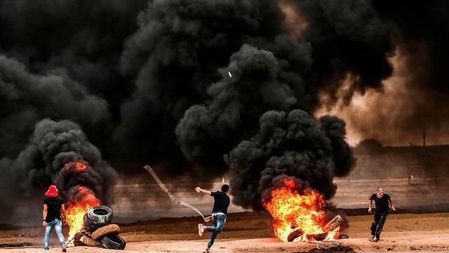 Беспорядки в Газе на границе с Израилем. Фото: AFP  (Photo: AFP)