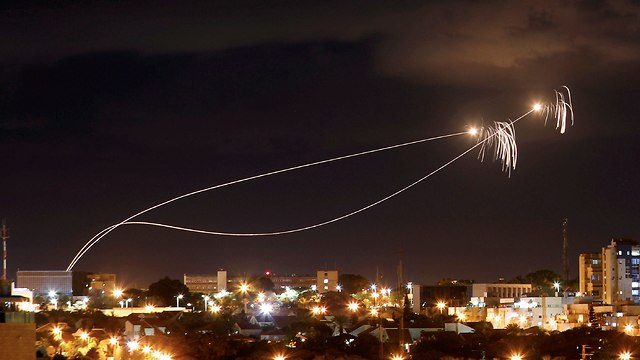 Iron Dome interceptions. (Photo: Reuters)