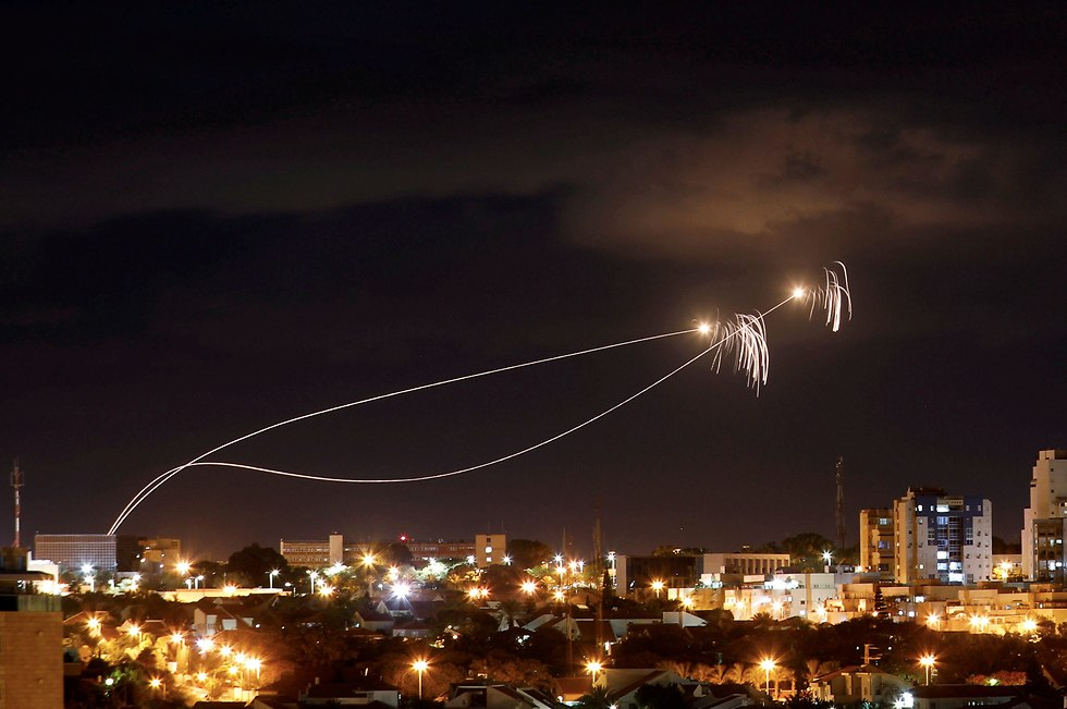 Gaza rockets launched and intercepted by Iron Dome (Photo: Reuters)