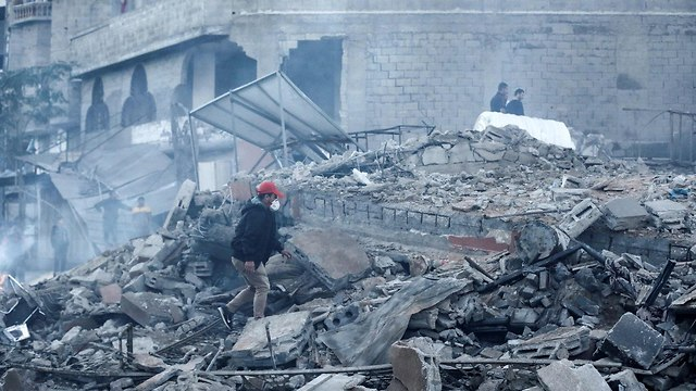 Destruction of Hamas headquarters in Gaza after IAF attack (Photo: AFP)