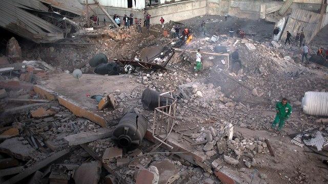 Hamas' general security headquarters demolished  (Photo: AP)