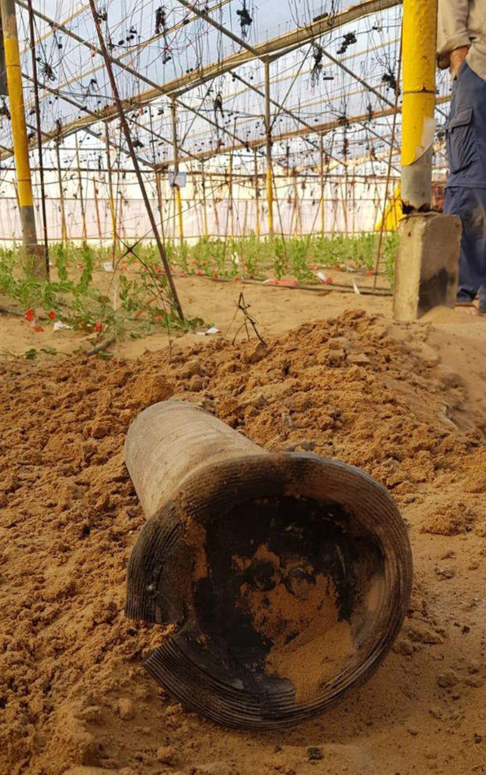 Rocket launched from Gaza (Photo: Netiv HaAsara security )