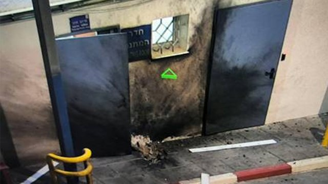 Rocket hits Erez Crossing (Photo: COGAT Spokesperson's Unit)