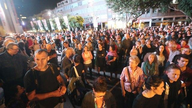 הפגנה נגד חוק הנאמנות בתרבות (צילום: מוטי קמחי)