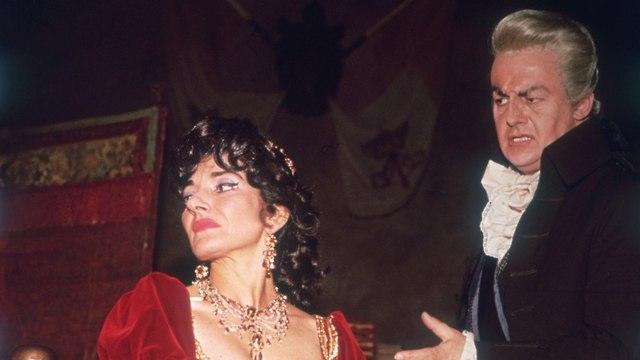 טיטו גובי ומריה קאלאס (צילום: Keystone/GettyimagesIL)