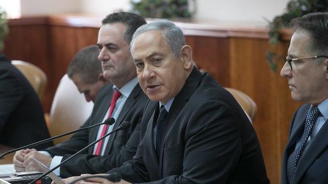 נאום בנימין נתניהו על אולטימאטום חמאס בישיבת הממשלה (צילום: אוהד צויגנברג)