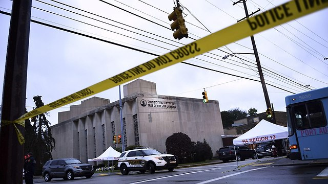 The Tree of Life Synagogue after deadly shooting (Photo: AFP)
