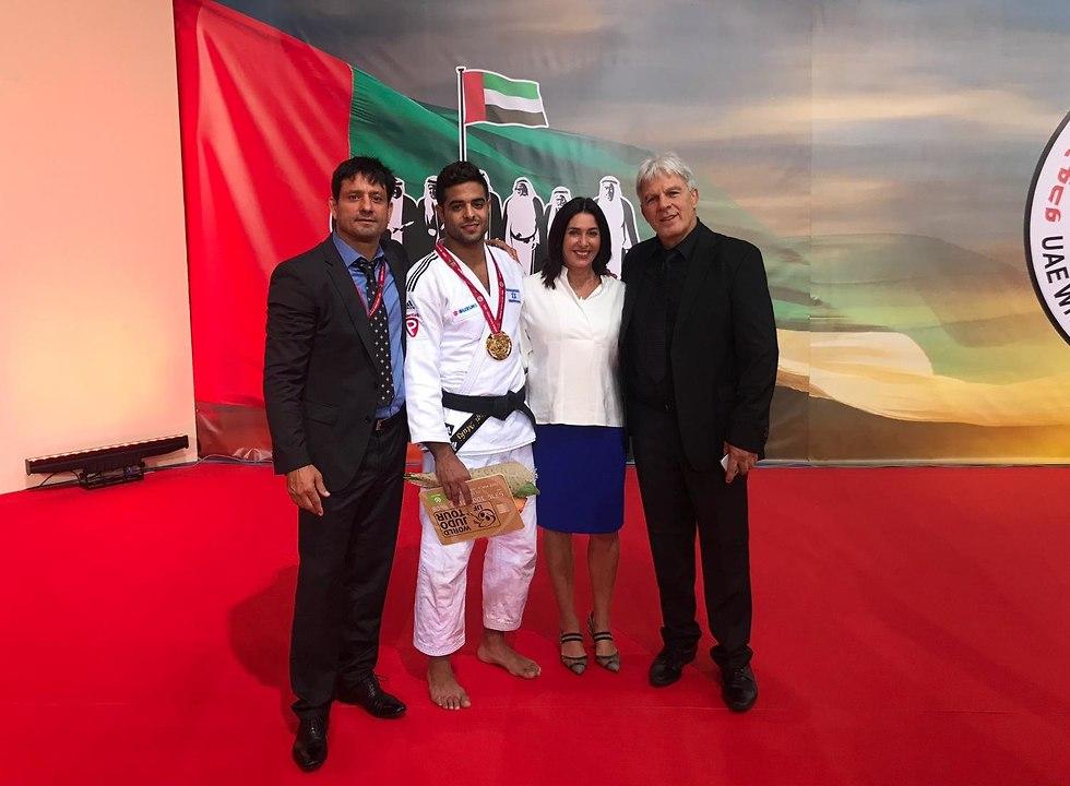 Мири Регев с победителем. Фото: федерация
