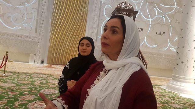 La ministra Miri Regev en Abu Dhabiu (Foto: Chen Kedem Maktubi)