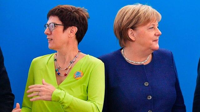 גרמניה פרישת אנגלה מרקל מראשות מפלגתה היורשת המועדפת עליה אנגרט קאמפ-קרנבאואר (צילום: AFP)