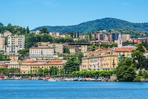 גם האגם שלה ישאיר את תושבי לוגאנו בשווייץ (צילום: Shutterstock)