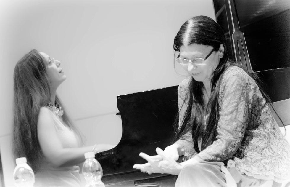 שלומית כהן אסיף. מתוך קונצרט עם אורית וולף (צילום: יואל לוי)