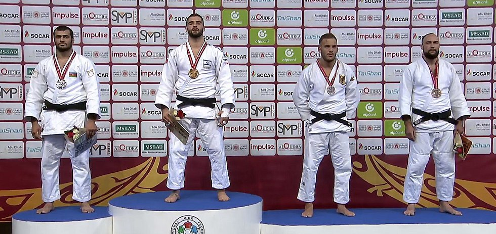 Peter Paltchik receives the Gold medal  (Photo: IJF)