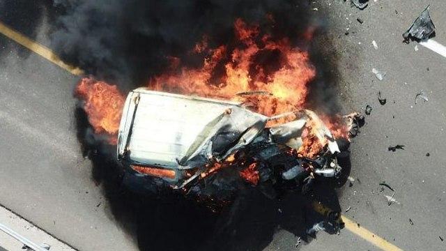זירת התאונה בכביש 90 (צילום: רובי הנדל)