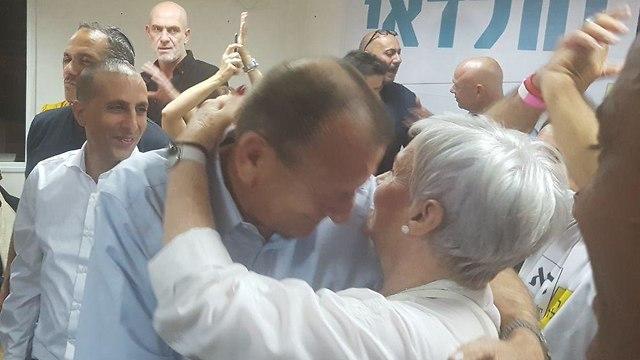 רון חולדאי חגיגות ניצחון בחירות רשויות מקומיות ()
