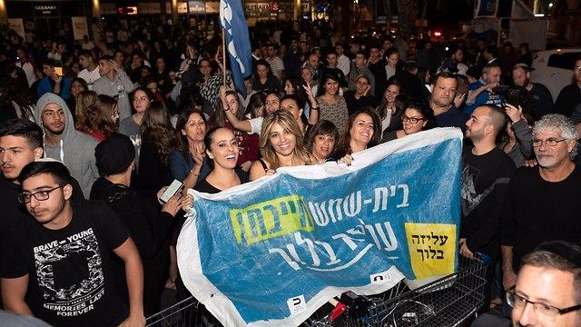 חגיגות הניצחון בבית שמש (צילום: יואב דודקביץ)