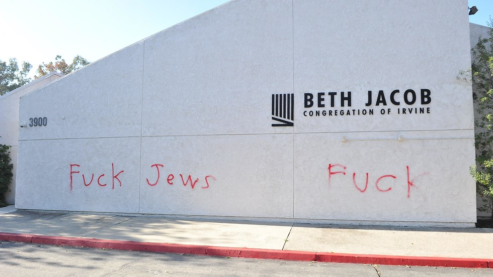 Anti-Semitic vandalism in California (Photo: AFP)
