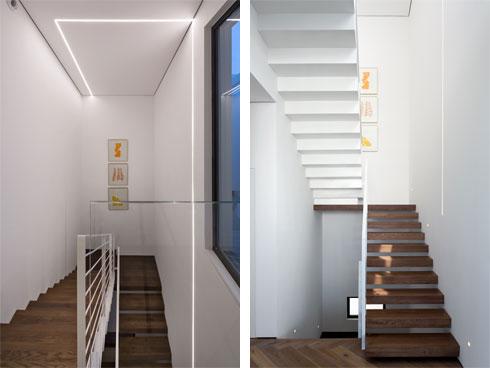 המהלך הראשון של המדרגות עשוי עץ, והשני פח לבן (צילום: שי אפשטיין)